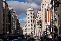 Die Gran Via in Madrid