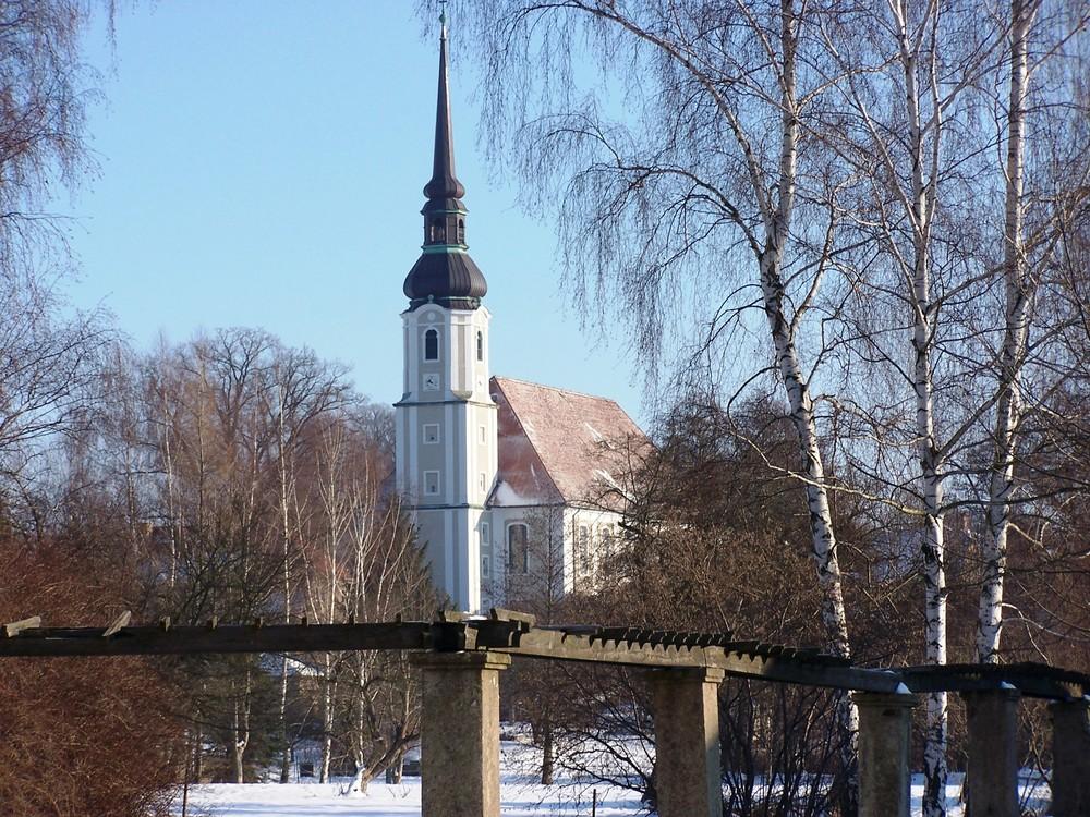 Die gröste Dorfkirche Deutschlands im Winter