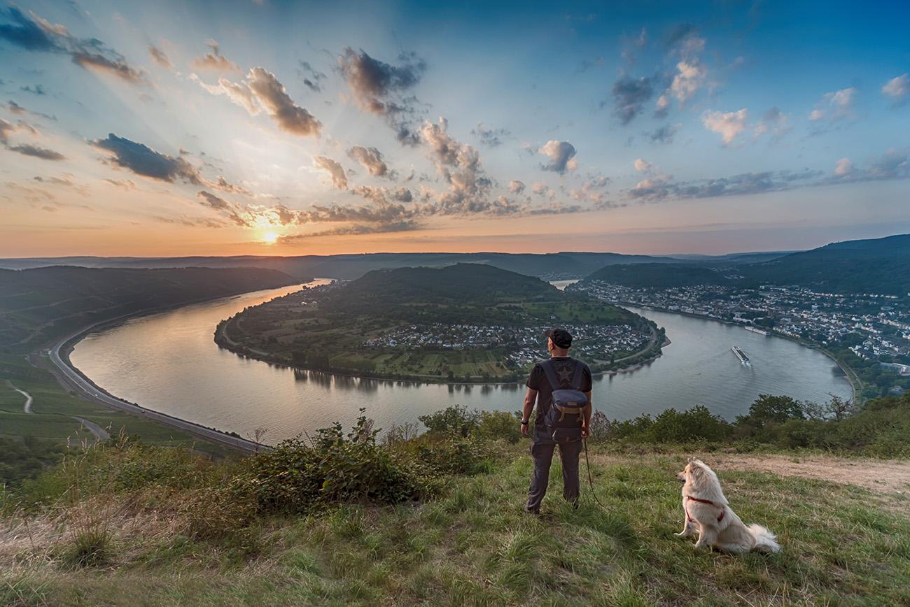 Die große Rheinschleife bei Boppard mit Himiko