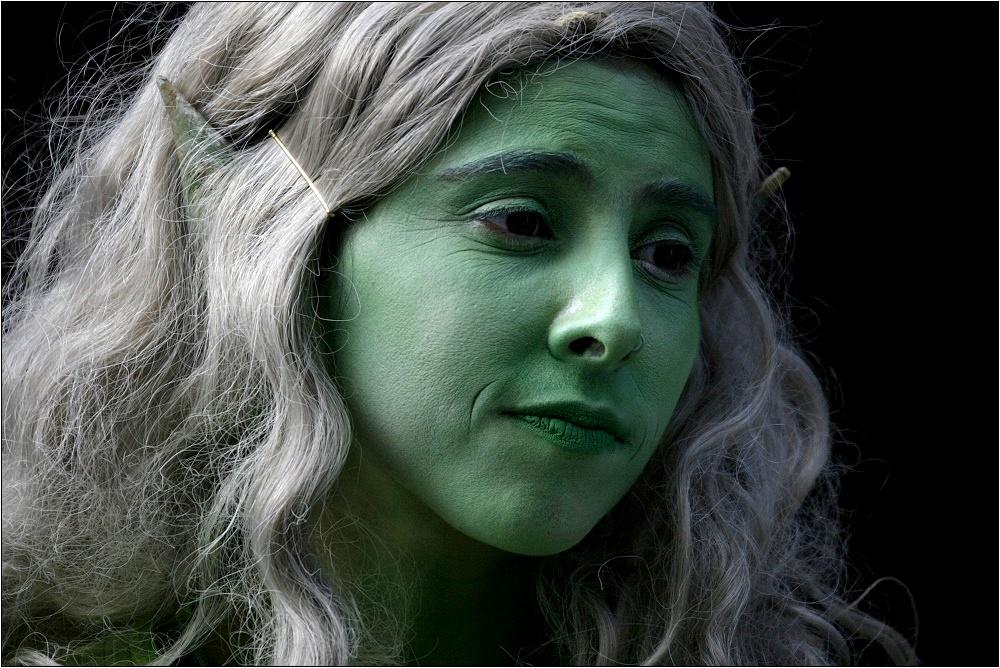 """""""Die Grüne Strassenkünstlerin"""""""