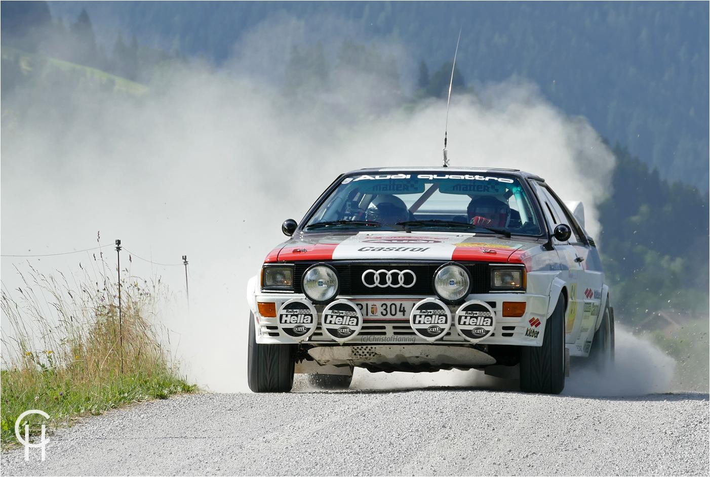 Die Gruppe B Rallyelegenden in Saalfelden (A)