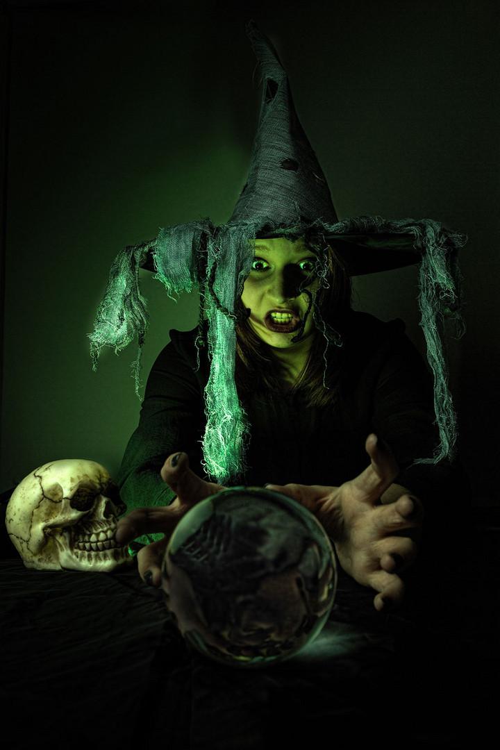 Die Halloween Hexe Foto Bild Erwachsene Versuche Menschen