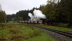Die Harzer Schmalspurbahn: Die 99 7234-0 kehrt vom Brocken zurück
