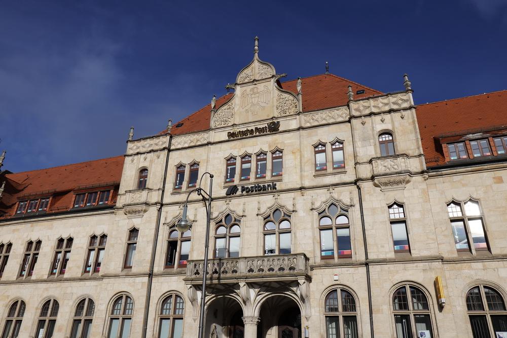 Die Hauptpost in Dessau