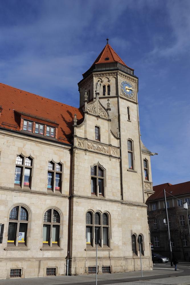 Die Hauptpost von Dessau