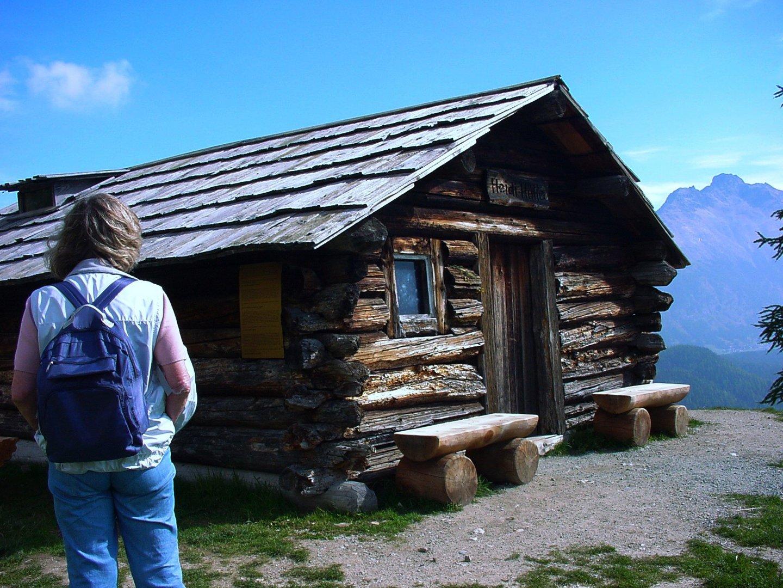 die Heidi Hütte bei St. Moritz Chantarella