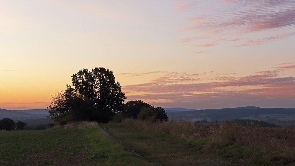 Die Himmelsfarben waren gestern Morgen mit Blick nach Süden wie ein Gemälde...