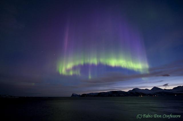 Die himmlische Krone - Polarlicht in der Morgendämmerung - Kp9