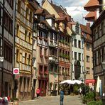 Die historische Weißgerbergasse in Nürnberg