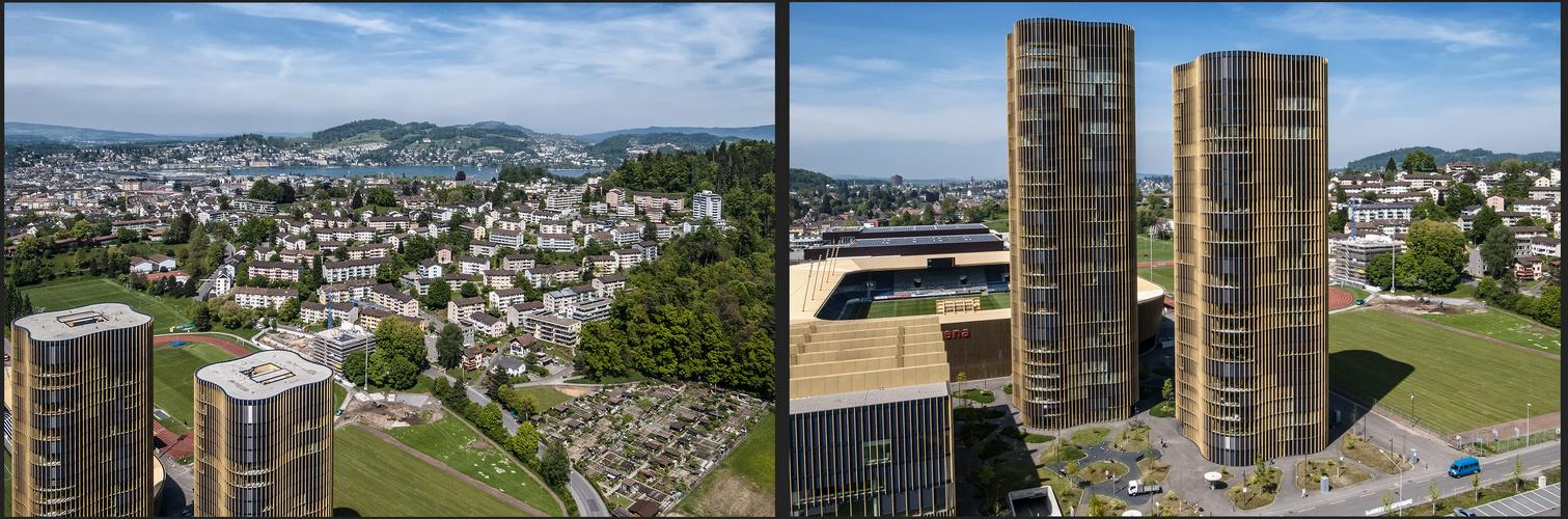 Die Hochhäuser von Luzern einmal aus einer anderen Perspektive.