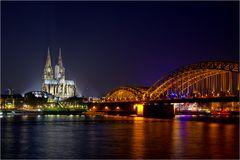 Die Hohenzollerbrücke und der Dom