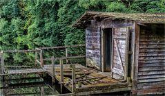 Die Hütte am Teich.......