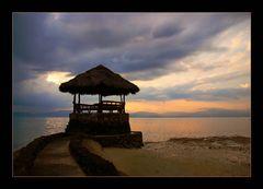 Die Hütte im Meer