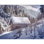 Die Hütte im Schnee