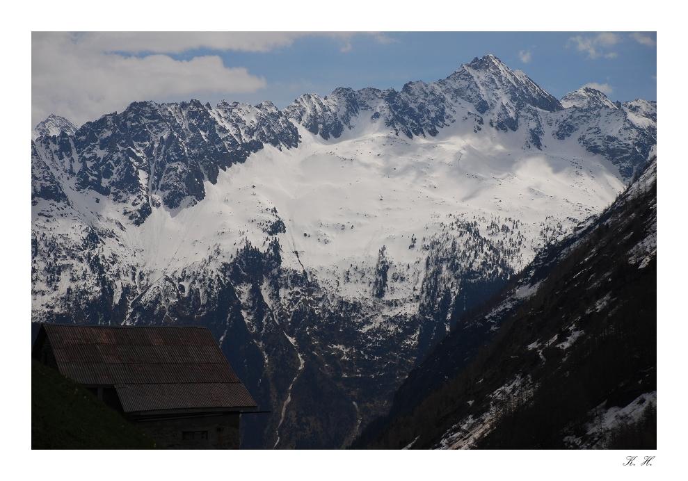 die Hütte in den Bergen
