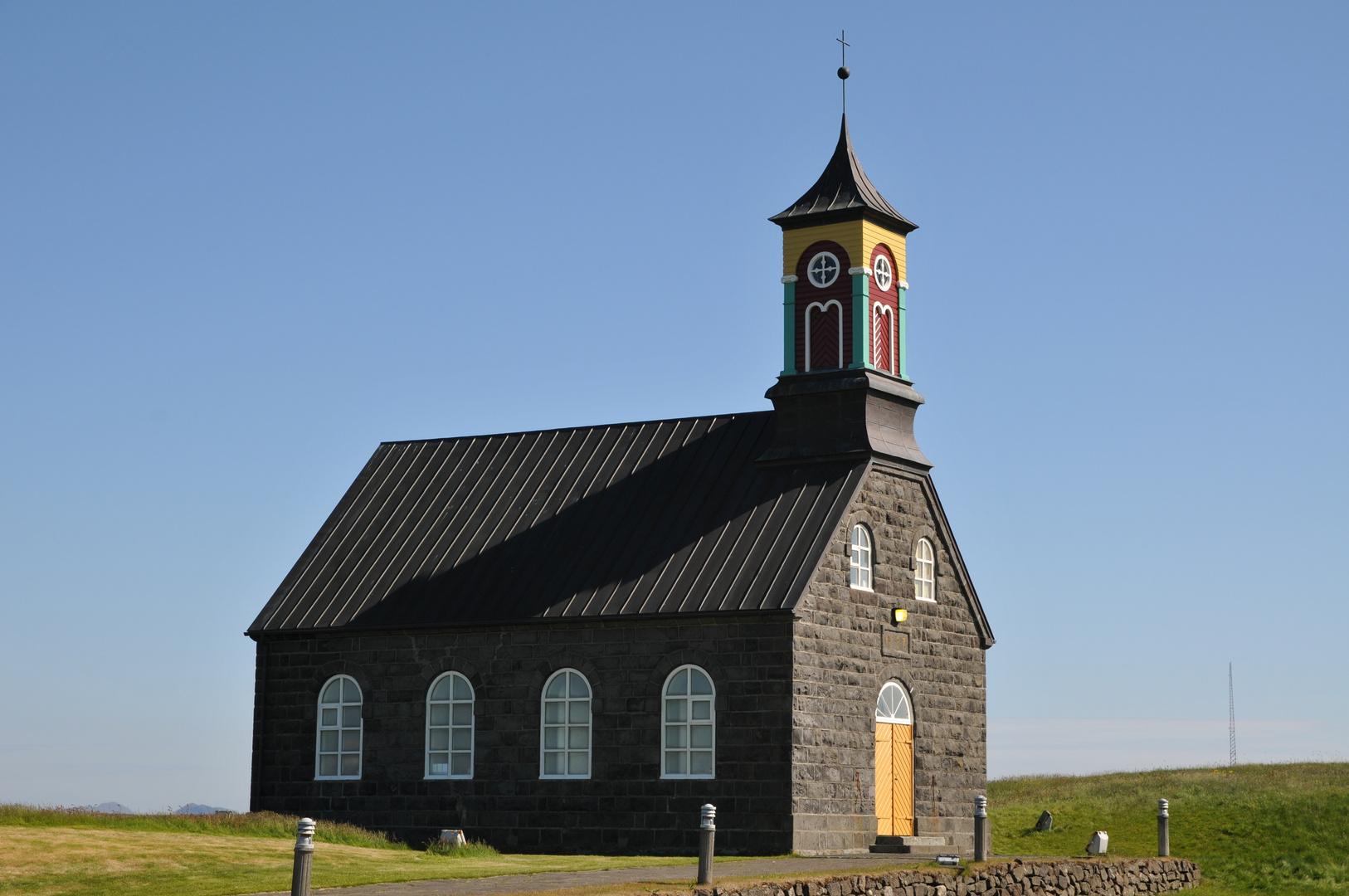 Die Hvalneskirkja an der Westküste der isländischen Halbinsel Reykjanes