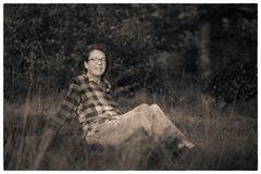 Die im Wald sitzt