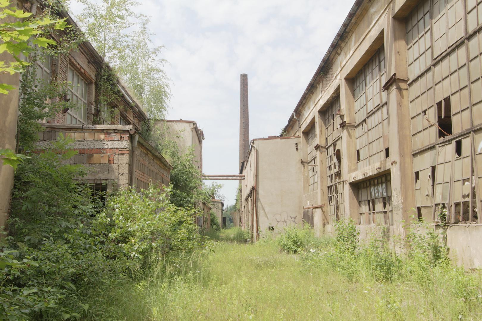 Die Industrieruine der Gießerei Krautheim in Chemnitz Borna, Sandstraße.