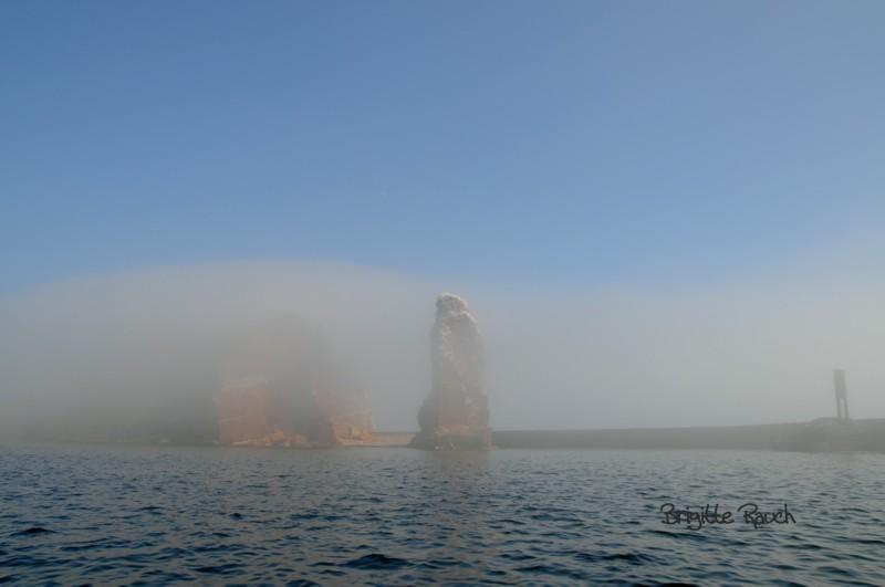 Die Insel unter einer Nebelglocke