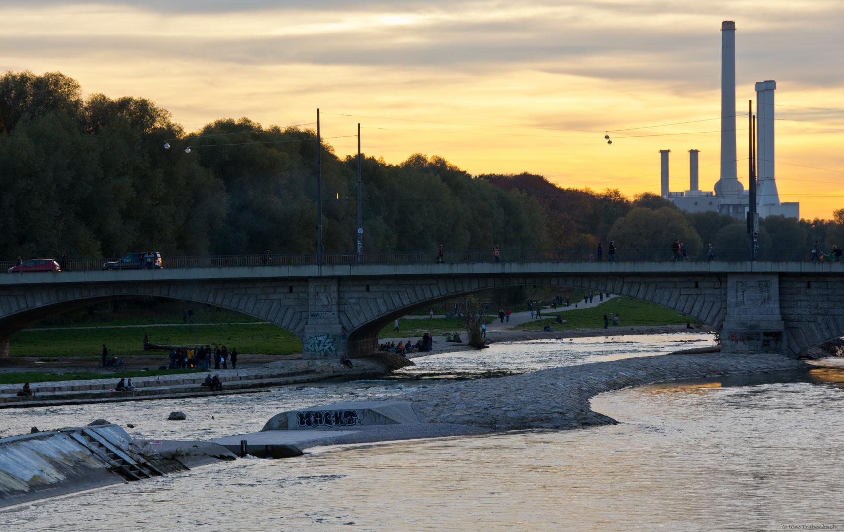 Die Isar an der Reichenbachbrücke