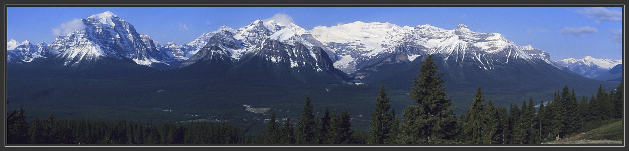 Die Kanadischen Rockies bei Lake Louise
