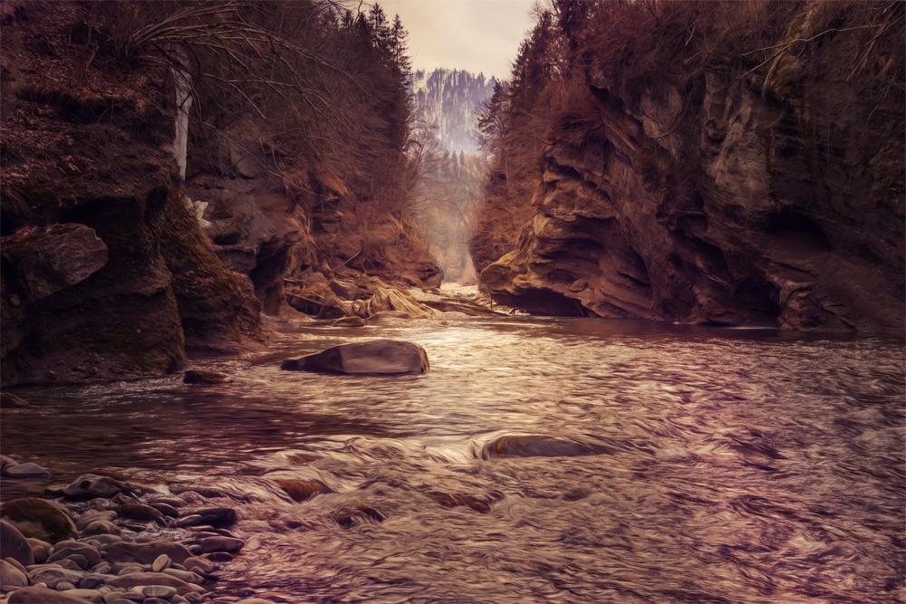 Die Kander im Berner Oberland
