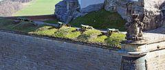 Die Kanonen der Festung Königstein sind immer noch nach Westen gerichtet...