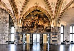Die Karlsfresken im Aachener Rathaus