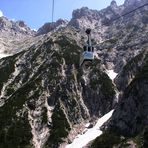 Die Karwendel Bergbahn überwindet ...