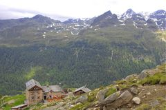 Die Kassler-Hütte von oben.