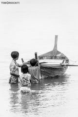 die Kids und das Boot