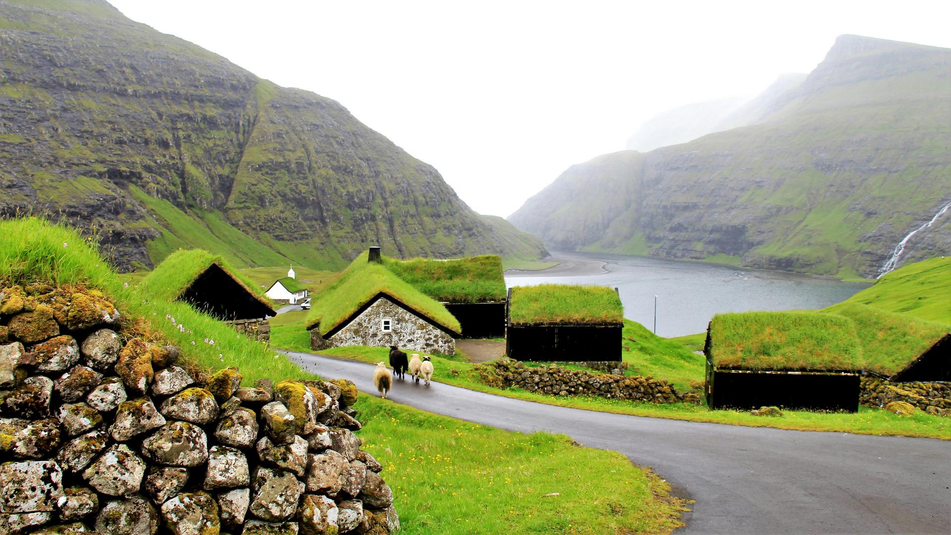 Die Kirche Saksun (Färöer)