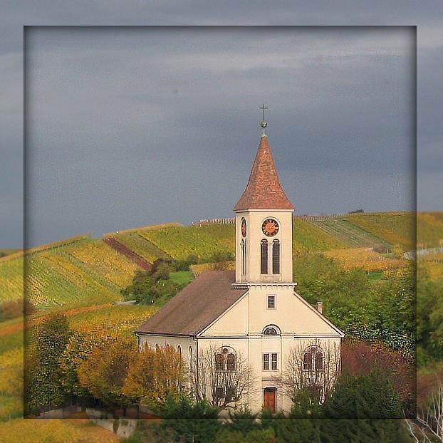 Die Kirche von Auggen bearbeitet