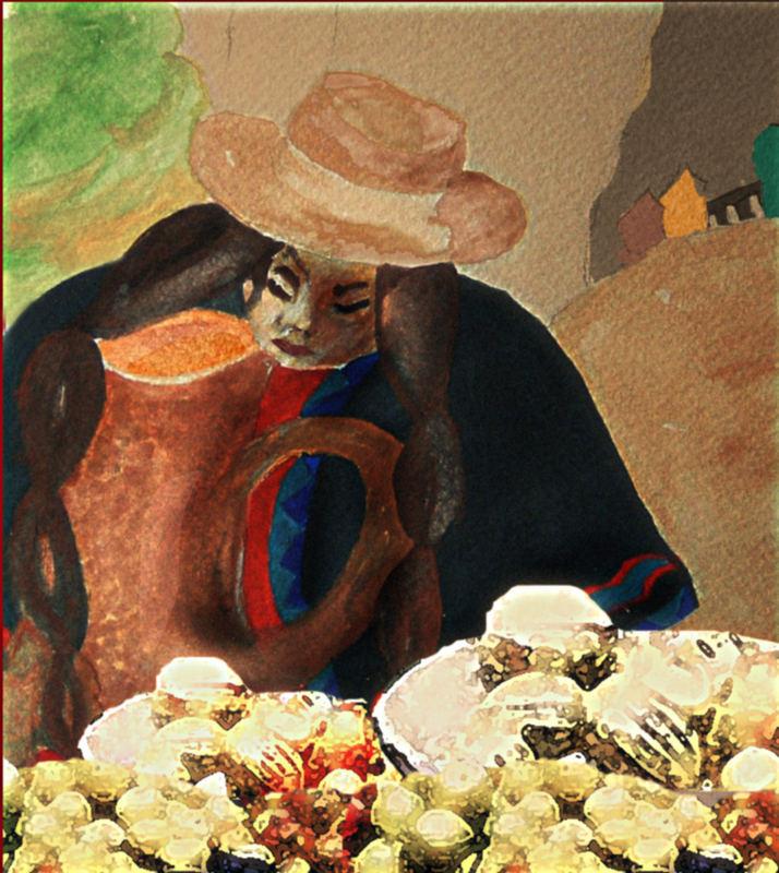 Die kleine Indianerin auf dem Markt