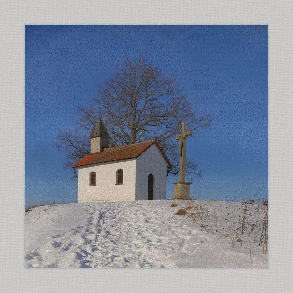 die kleine Kapelle auf dem Berg. ..