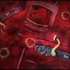 Die Klinke an der roten Tür