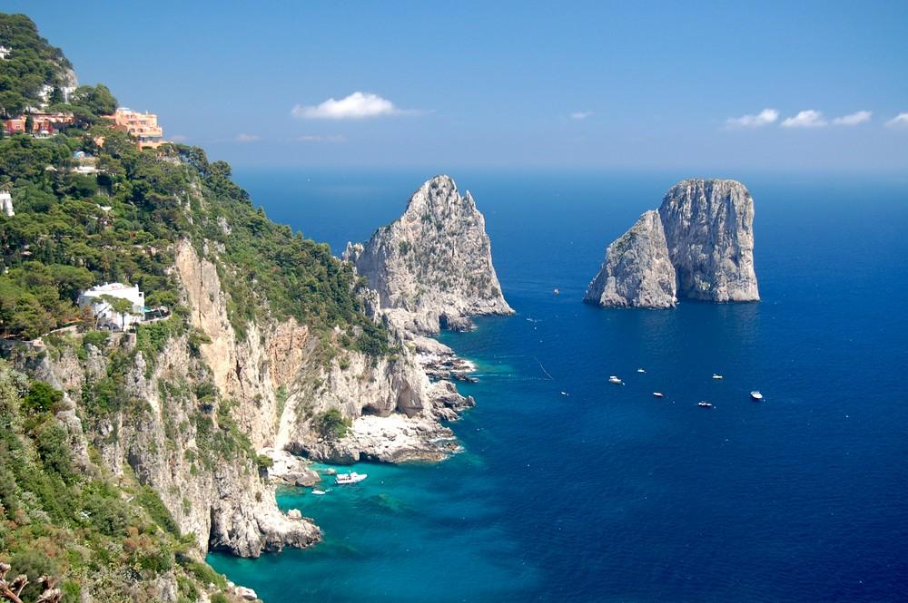 Die Klippen von Capri