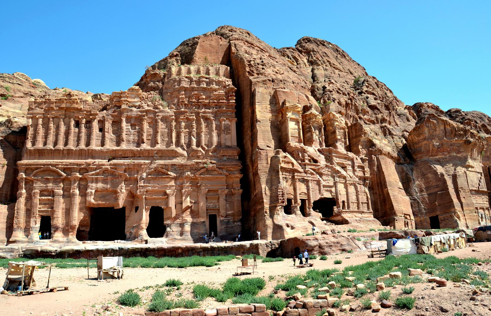 Die Königswand in der alten Nabatäerstadt Petra