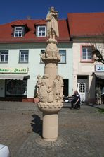 Die Krabatstele in Wittichenau bei Hoyerswerda