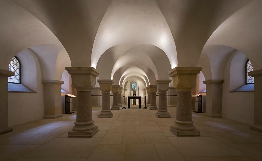 Die Krypta des Hildesheimer Doms