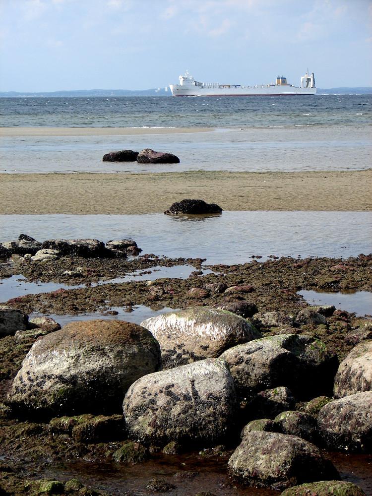 Die Küste der Ostsee ist oft steinreich
