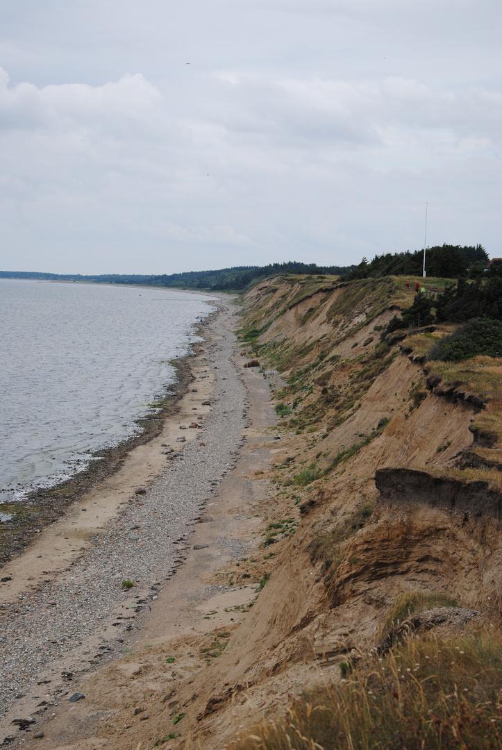 Die Küste in Logstor (Dänemark)