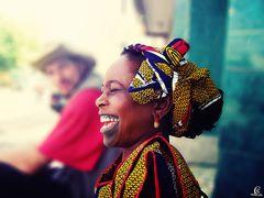 die lachende Senegalesin