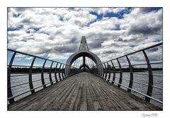 die längste Fußgängerbrücke Europas....