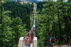 Die längste Hängebrücke von Deutschland