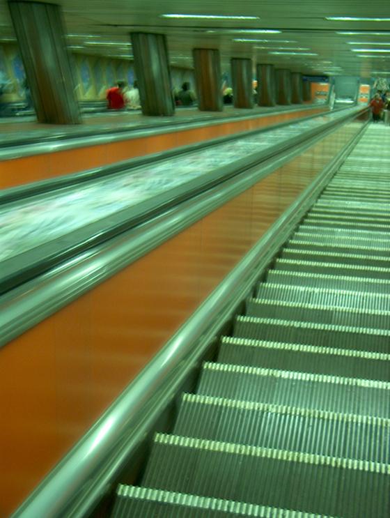 die längste Rolltreppe