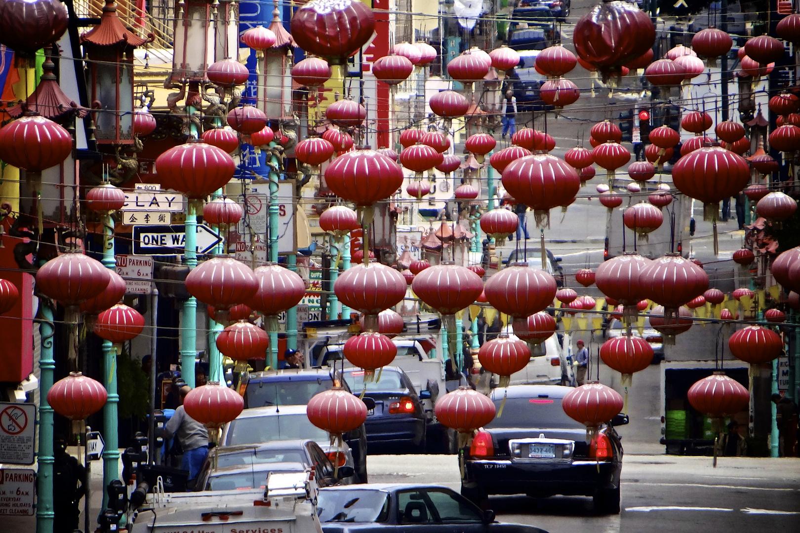 Die Lampions in Chinatown