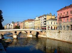 Die Lateinerbrücke in Sarajevo