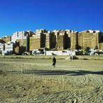 Die Lehm Hochhäuser im Wadi Hadramaut im Yemen.