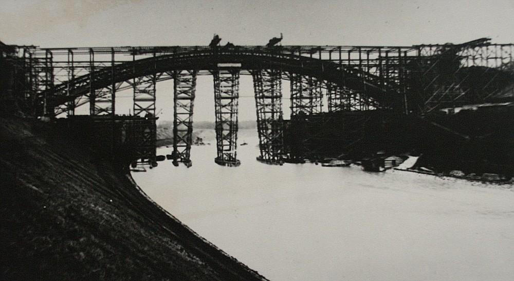 Die Levensauer Hochbrücke im Bau